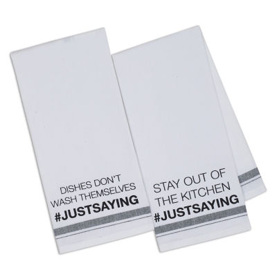 #JUSTSAYING Printed Dishtowel - Set of 2