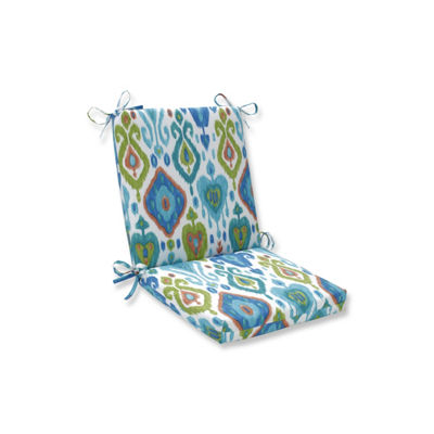 Pillow Perfect Paso Caribe Squared Corners Patio Chair Cushion