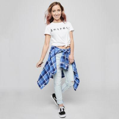 Bailey - Top Pick - Arizona Respect Tee, Plaid Shirt and Skinny Jeans