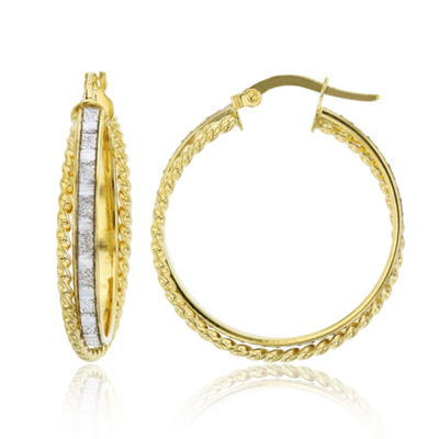Made In Italy 14K Gold 27.5mm Hoop Earrings