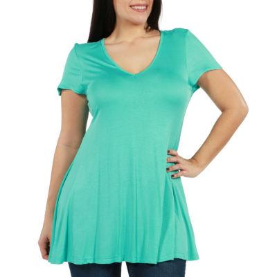24/7 Comfort Apparel Kathy Tunic Top - Plus