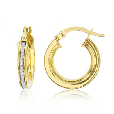 Made In Italy 14K Gold 16mm Hoop Earrings
