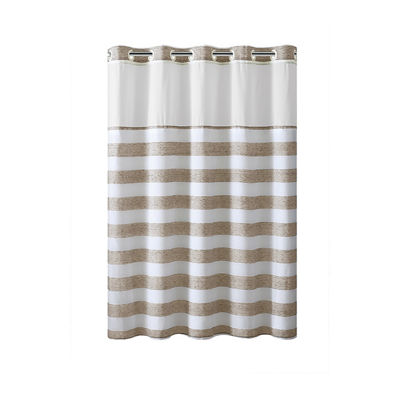 Yarn Dye Stripe Hookless Shower Curtain