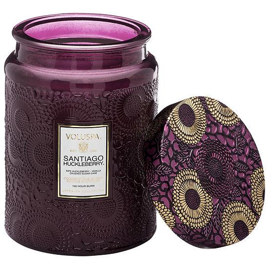 VOLUSPA Santiago Huckleberry Large Glass Jar Candle