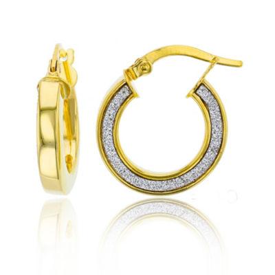 Made In Italy 14K Gold 19.5mm Hoop Earrings