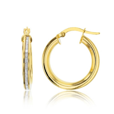 Made In Italy 14K Gold 21mm Hoop Earrings