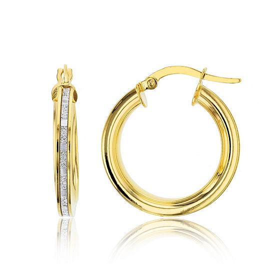 Made In Italy 14K Gold 21mm Hoop Earrings