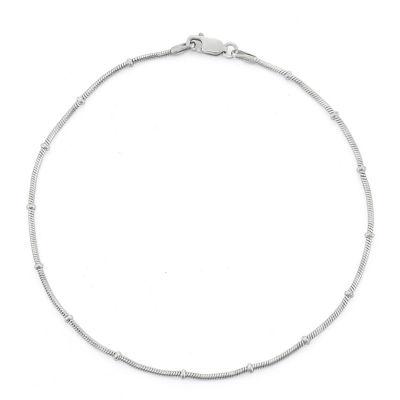 Sterling Silver 10 Inch Solid Snake Ankle Bracelet