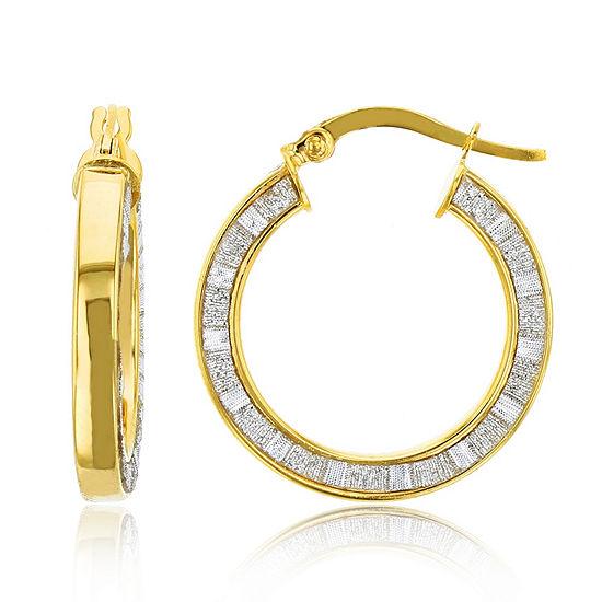 Made In Italy 14K Gold 23mm Hoop Earrings