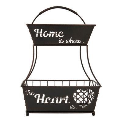 Gourmet Basics by Mikasa Home Heart 2 tier Fb Bskt Os Over Cabinet Storage