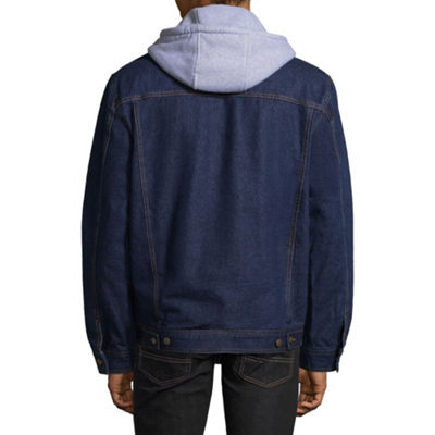 Victory Fleece Lined Denim Jacket with Hood