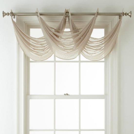 Home Expressions Grommet-Top Waterfall Valance