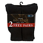 Gold Toe® 6-pk + 2 Bonus Pair Athletic Crew Socks