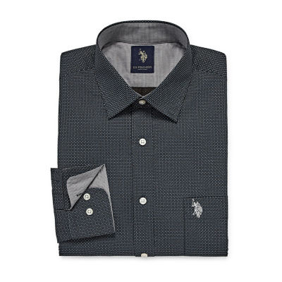 U.S. Polo Assn. Uspa Dress Shirt Long Sleeve Geometric Dress Shirt