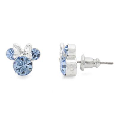 Disney Blue Crystal 9.3mm Minnie Mouse Stud Earrings
