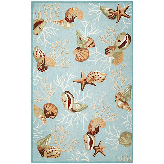 Kas Coral Reef Hooked Rectangular Indoor Rugs