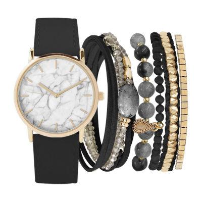 Womens Black Bracelet Watch-St2493g689-003