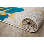 World Rug Gallery Contemporary Modern Large Floral Flowers Runner Rug