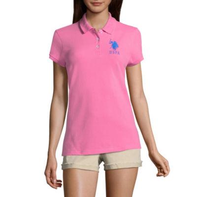 Us Polo Assn. Short Sleeve Knit Polo Shirt - Juniors