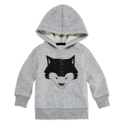 Okie Dokie Fox Fleece Zip Up Hoodie - Baby Boy NB-24M