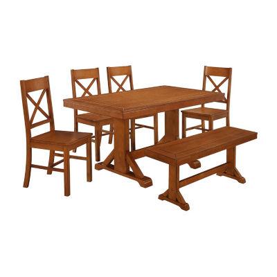 Millwright 6-pc. Wood Dining Set