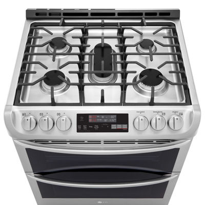 LG 6.9 cu.ft. Smart Wi-Fi Enabled Gas Double Oven Slide-In Range with ProBake Convection®