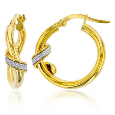 14K Gold 21mm Hoop Earrings