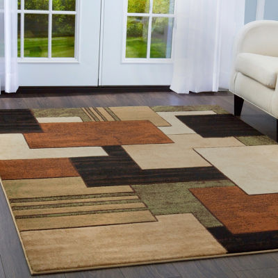 Home Dynamix Tribeca Mason Abstract Rectangular 3-Piece Rug Set