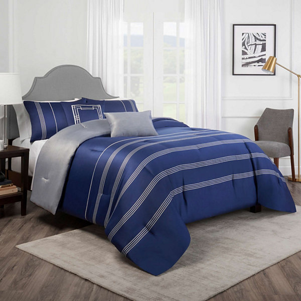 Lionel Richie Woven Stripe 3-pc. Comforter Set