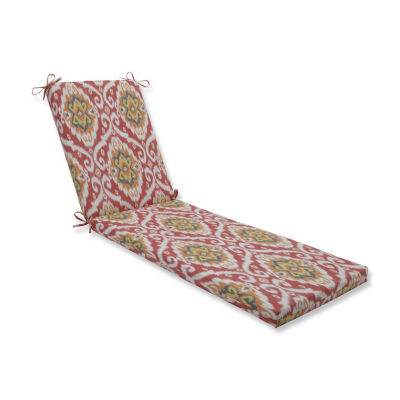 Pillow Perfect Ubud Coral Oversized Patio Chaise Lounge Cushion