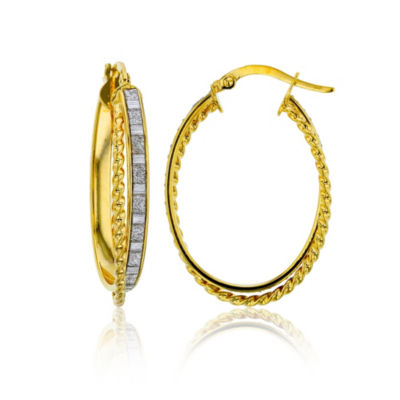 Made In Italy 14K Gold 31mm Hoop Earrings
