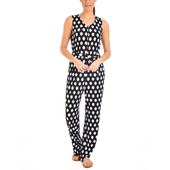 NY Collection Printed Sleeveless Jumpsuit - Petites