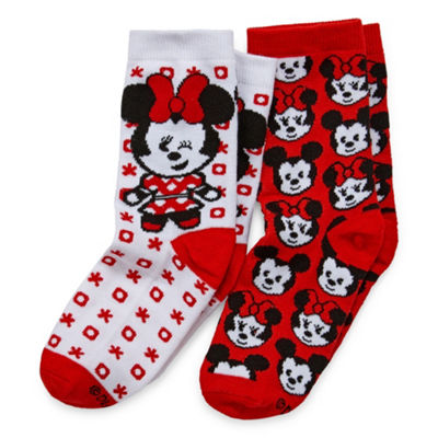 Disney 2 Pair Minnie Mouse Over the Calf Socks