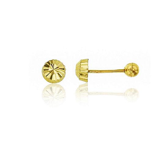 14K Gold 4mm Stud Earrings