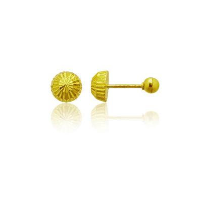 14K Gold 5mm Stud Earrings