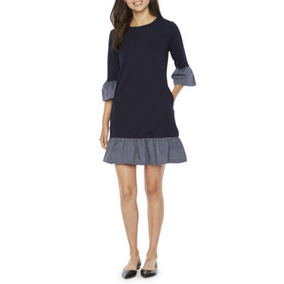 Vivi By Violet Weekend 3/4 Sleeve Sheath Dress