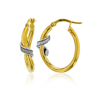 Made In Italy 14K Gold 26mm Hoop Earrings