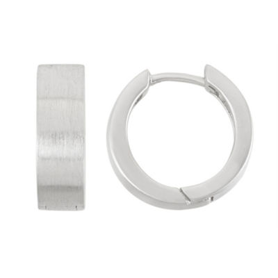 Sterling Silver 15.1mm Hoop Earrings