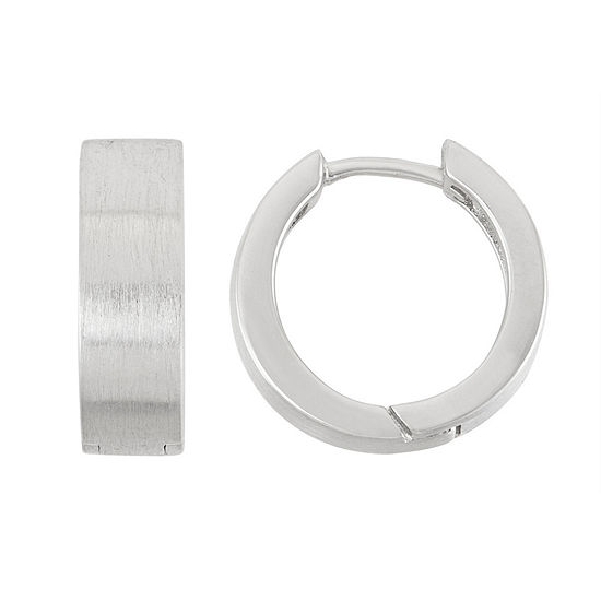 Sterling Silver 15.1mm Hoop Earrings