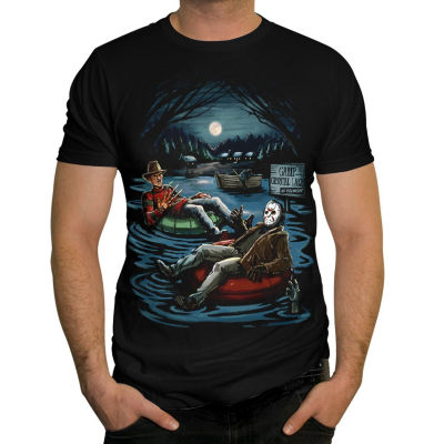 Freddy and Jason On The Lake Graphic Tee