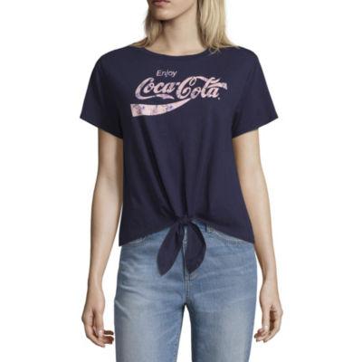 Coca Cola Tie Front Tee - Juniors