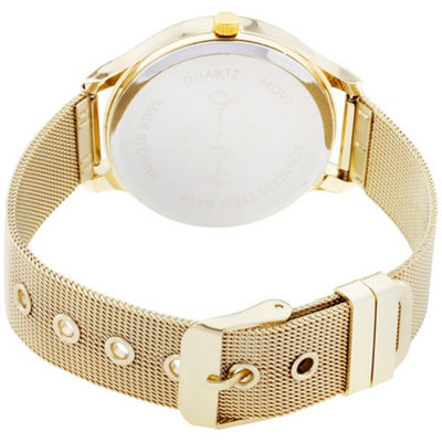 Womens Gold Tone Bracelet Watch-St2680g735-005