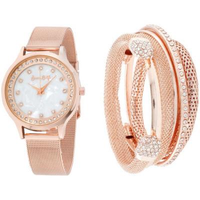 Womens Rose Goldtone Bracelet Watch-St2680rg735-524