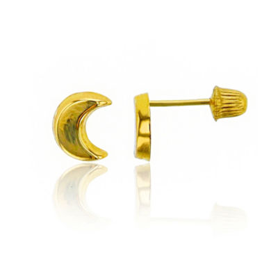14K Gold 6mm Stud Earrings