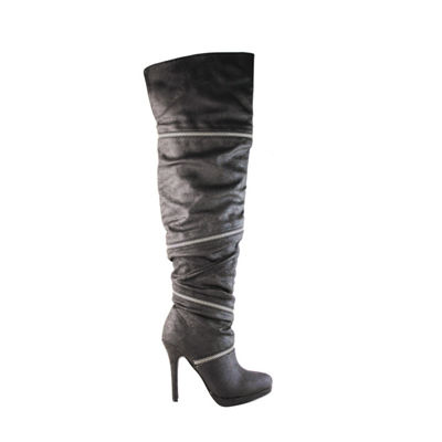 Michael Antonio Womens Presser Over the Knee Boots Stiletto Heel Zip