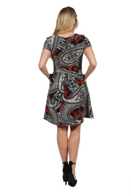 24Seven Comfort Apparel Ellie Empire Waist Maternity Mini Dress - Plus