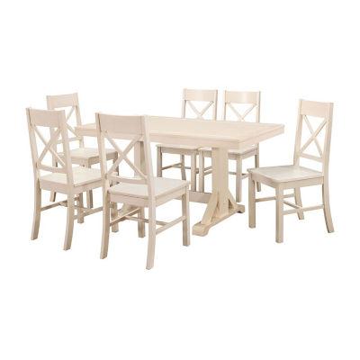 Millwright 7-pc. Wood Dining Set