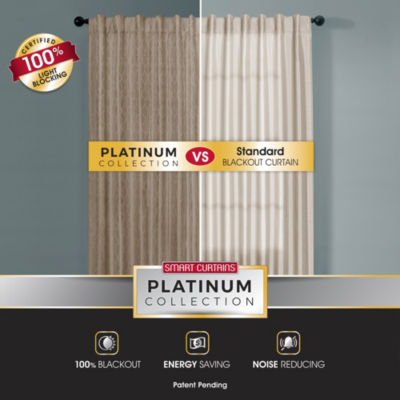 Platinum Smart Curtains Ainsley Blackout Back-Tab Curtain Panel