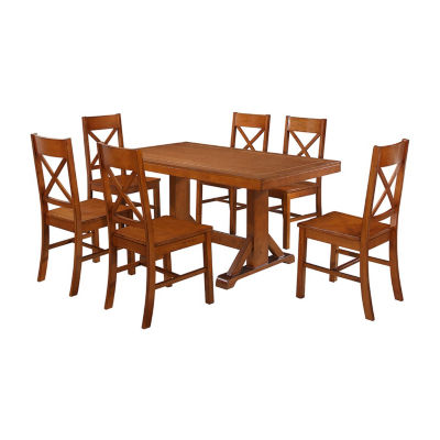 Millwright 7-pc. Wood Dining Set