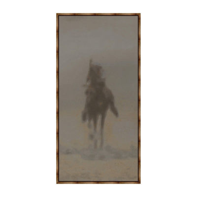 Rider IV Panel Framed Canvas Art